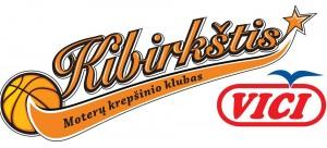 """Moterų krepšinio komanda """"KIBIRKŠTIS-VIČI"""" logotipas"""